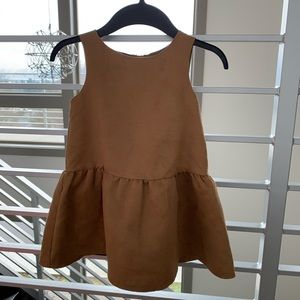 H&M Gilts Suede Dress size 3-4 years